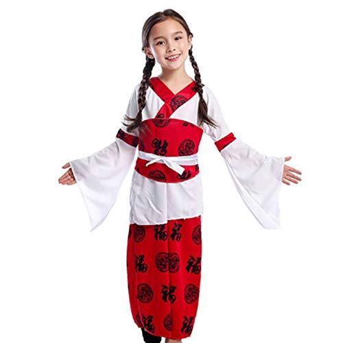 Chinesischen Weiblich Nationalen Kostüm - GUAN Nationales Windleistungsshowkleidungskindertageshalloween-Spielspielkostüm der Prinzessin Mädchen
