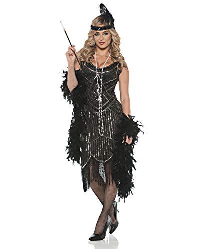 Horror-Shop Charleston Gatsby Girl Kostüm für Fasching & Halloween XL