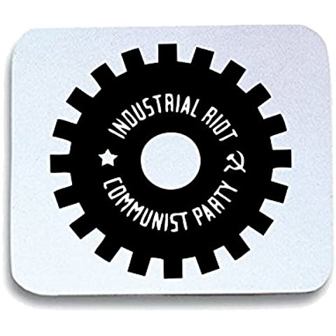 Cotton Island - Tappetino Mouse Pad TCO0119 industrial riot communist party, Taglia taglia unica