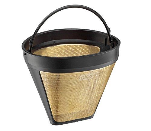 Cilio 116007 Kaffeefilter Größe 4, Goldfilter