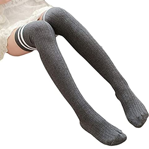 Chaussette Femme Kolylong Femmes Stripe Winter Over Knee Jambières doux Knitting Crochet Chaussette Legging (63cm / 24,8