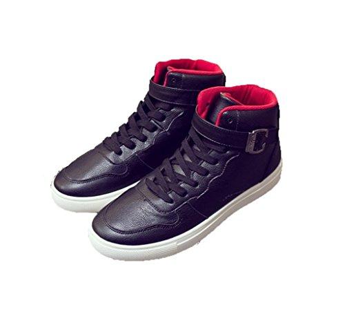 WZG Neue Winter tragen high-top Schuhe, Mode warme Männer Freizeitschuhe schnüren Schuhe der Männer Black