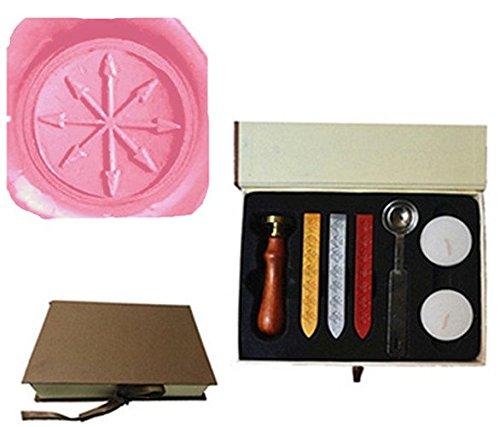 Vintage Pfeile Darts Kompass Bild Logo Hochzeit Einladung Wachssiegel fadensiegelung Stempel Set Kit Box Kit (Design Boxen Dart)