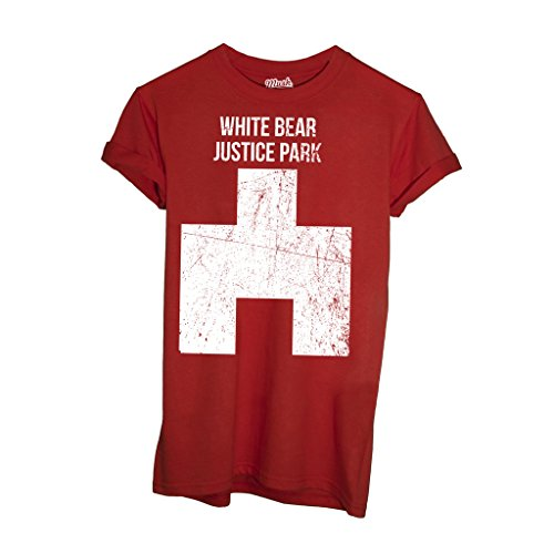 T-Shirt BLACK MIRROR WHITE BEAR - FILM by Mush Dress Your Style - Uomo-L-Rossa