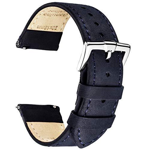 B&E Cinturini per Orologi Ricambio Cinturino in Pelle Premium per Uomo e Donna - 16mm 18mm 19mm 20mm 22mm