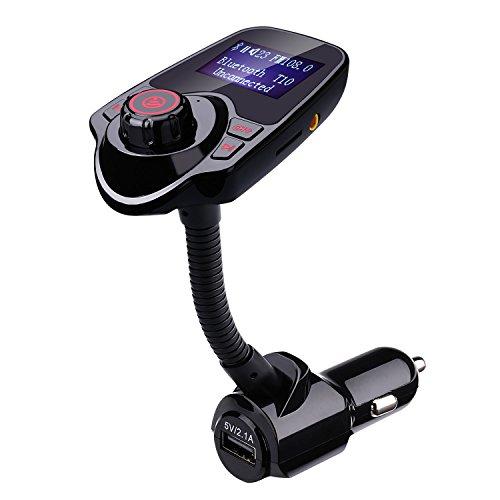 lederTEK Transmisor FM Bluetooth con Cargador USB de Manos Libres para