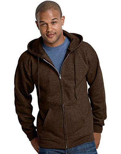 Hanes 10 oz ULTIMATE COTTON Full-Zip Fleece Hood -