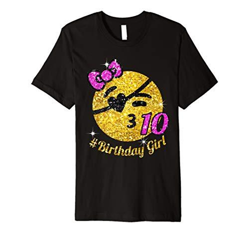 (10. Geburtstag Pirat Stil Mädchen Shirt)