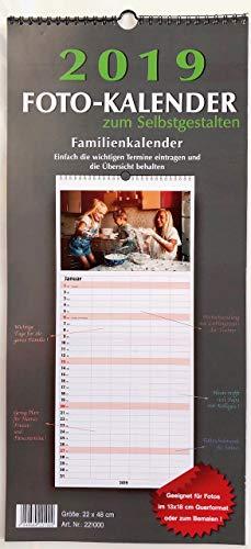 Familienkalender Bastelkalender Fotokalender 2019 zum selbstgestalten 22x48cm (Halloween 2019 Fotos)