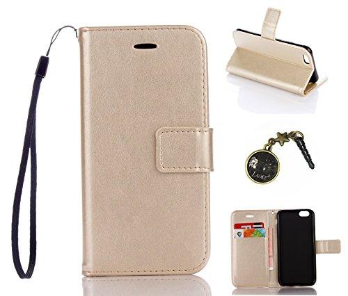PU für Apple iPhone 6 Plus (5.5 Zoll) Hülle,Geprägte Campanula Handyhülle / Tasche / Cover / Case für das Apple iPhone 6 Plus (5.5 Zoll) PU Leder Flip Cover Leder Hülle Kunstleder Folio Schutzhülle Wa 1