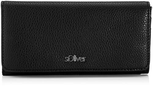 s.Oliver (Bags Damen Portemonnaie Geldbörse, Schwarz (Black) 2,5x10,5x19 cm