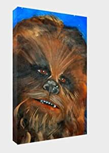 Chewbacca 30 x 20 pouces sur toile Motif Star Wars Poster Tableau
