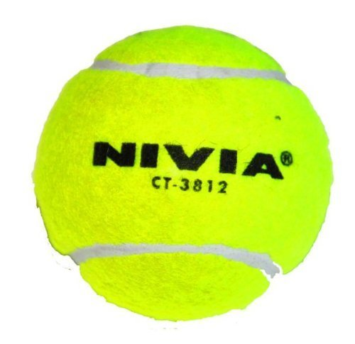 Nivia Hard Tennis Ball for Baseball/Cricket and Tennis, Yellow  available at amazon for Rs.1202