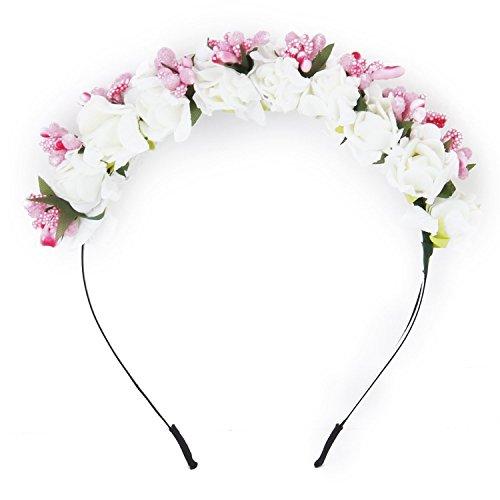 SODIAL(R) Blume Garland Blumen Brautjungfer Stirnband Haarband Hochzeit