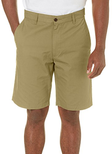 Herren Flat Front Perfect Shorts 34W Olivgr¨¹n (Front Flat Dockers Shorts)