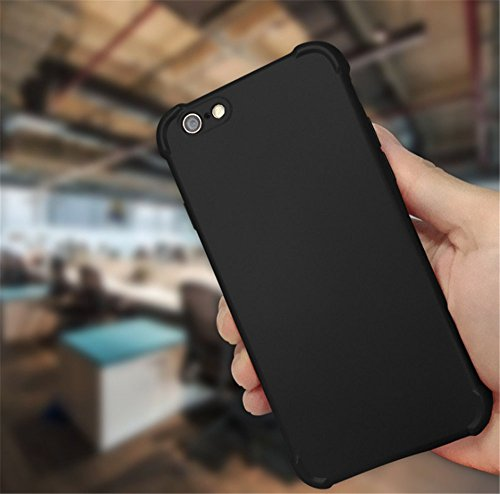 "Coque iPhone 6 6S,JEPER® 360° Protection Intégrale TPU+PC Quatre Coins Airbag Ultra Mince Anti-Choc Anti-Scratch Etui Housse pour Telephone Apple iPhone 6S Case 4.7"" Noir"