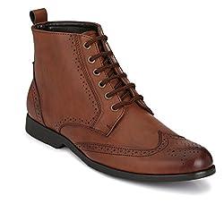 San Frissco Mens Brown Combat Boots - 7 UK