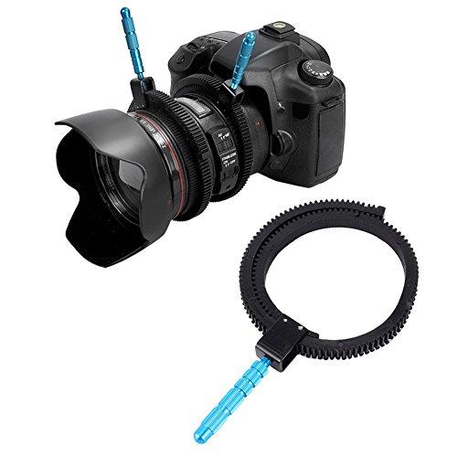 52mm-86mm Objektiv Follow Focus Ring Zoom Gear Ring für SLR DSLR Gummi mit Drehgriffschalter Hebel Kamera Zubehör