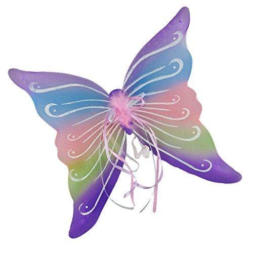 sharplace Kinder Erwachsene Glitzer Fee Flügel Fancy Kleid Halloween Cosplay Schmetterling Flügel