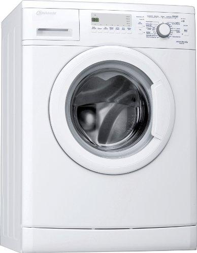 Bauknecht WAK 62 Waschmaschine Frontlader / A++ B / 1400 UpM / 6 kg / Weiß / Display mit Startzeitvorwahl und Restzeitanzeige / Small display / unterbaufähig