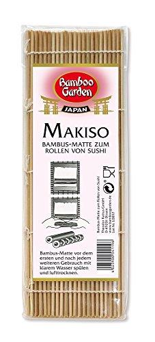 Bamboo Garden MakisuL0903 -Esterilla de bambú para rollos de sushi, 3unidades