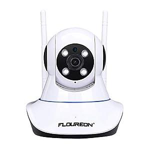 camaras de seguridad inalambricas para casa: FLOUREON Cámara IP inalámbrica, cámara WiFi de vigilancia de Seguridad Interior ...