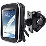 "Motorbike / Bicycle Mount And Protective Water Resistant Case Suitable for all 5"" Devices Including TomTom, Garmin, Navman, Navigon And Phone Brands. Including: Tomtom GO 300, TomTom One V4, Garmin Nuvi 2595, Garmin Nuvi 50, Garmin Nuvi 1490T, Navman Spirit 685. Apple iPhone 5, Samsung Galaxy Note, Note 2, Optimus VU, HTC EVO, Sensation XL. iPhone 5, Samsung Note, Samsung Note 2."