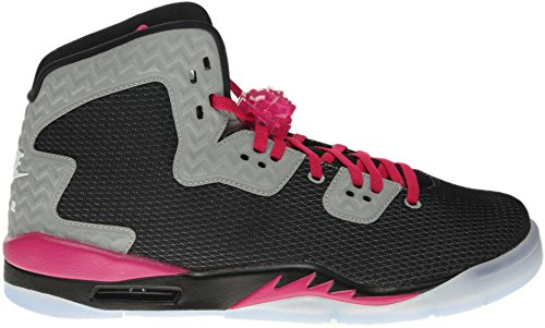 Nike Air Enfants de Spike Quarante Gg Basketball Shoe Black/White-Reflective Silver-Sport Fuchsia
