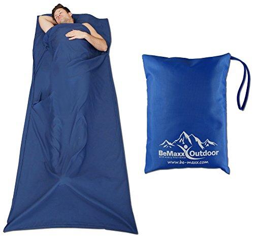 417%2B5aQ%2B9aL - BeMaxx Sleeping Bag Liner + Pillow Inlet Outdoor – Compact, Lightweight Inlay | Summer Microfibre Bedroll | Space–saving…
