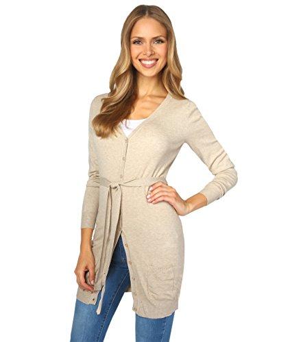 KRISP -  Cardigan  - cardigan - Basic - Collo a V  - Maniche lunghe  - Donna Beige