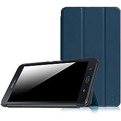 Fintie Samsung Galaxy Tab A 7.0 Étui Housse - Ultra-Mince et Léger PU Cuir étui Coque Case Cover pour Samsung Galaxy Tab A 7.0 SM-T280 / SM-T285 (7 Pouces) Tablet, Bleu Marrine