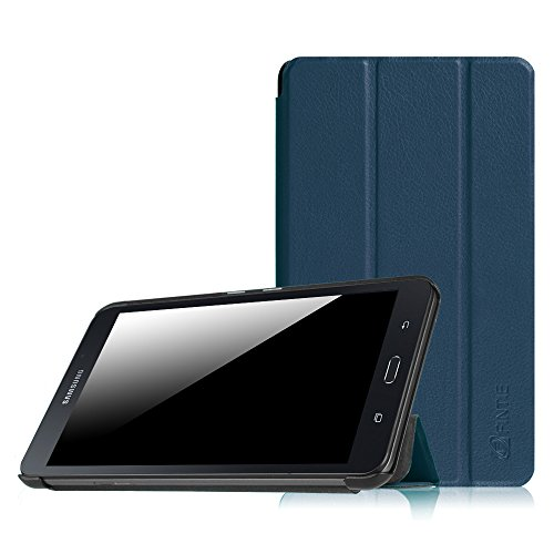 Fintie Hülle für Samsung Galaxy Tab A 7.0 Zoll SM-T280 / SM-T285 Tablet (2016 Version) - Ultra Schlank Superleicht Ständer Slim Shell Case Cover Schutzhülle Etui Tasche, Marineblau
