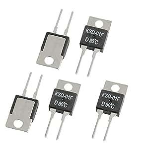 5Stück KSD-01F D90C Thermostat für Temperaturregelner 90Celsius NC