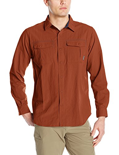 Columbia Twisted Divide Long Sleeve Shirt, Herren, Twisted Divide Homme Rostfarben