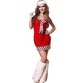 Marcus R Caveggf Mujeres Santa Navidad Sexy Navidad Señorita Señora Sra. Bowknot Claus Lindo Festivo Disfraz Disfraz Traje