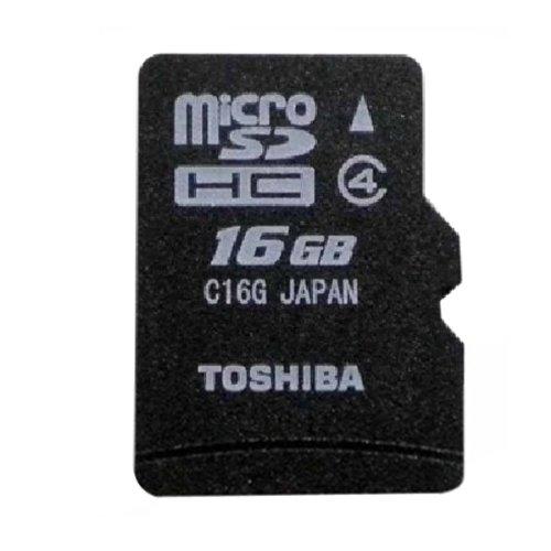 Memory Stick PRO Duo Adapter + 16GB microSDHC class 4 Toshiba Karte (16GB) (Memory Stick Pro Duo Mit Adapter)