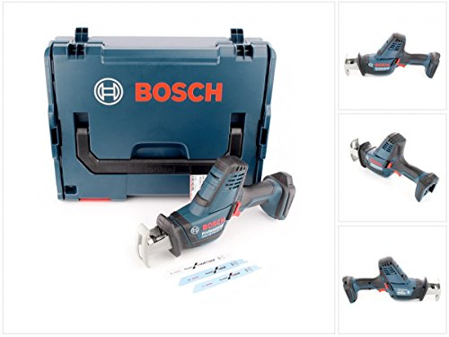 Preisvergleich Produktbild Bosch Professional GSA 18 V-LI C Akku-Säbelsäge, Schnitttiefe bis 200 mm in Holz, 100 mm in Metalprofilen, 2,5kg, Solo Version, L-BOXX, 1 Stück, 06016A5001
