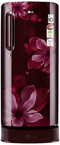 LG 190 L 4 Star Direct-Cool Single Door Refrigerator (GL-D201ASOX.ASOZEBN,...