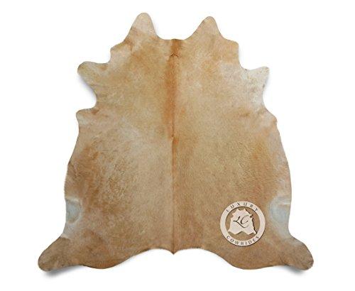 Teppich aus Kuhfell, Farbe: Beige, Größe circa 150 x 180 cm, Premium - Qualität von Pieles del Sol aus Spanien