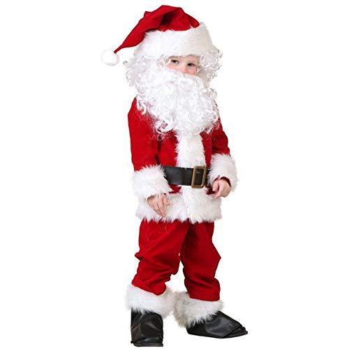 ance Show Kinder Erwachsenen Männlichen Luxus Santa Kleid Kostüme Kleidung Anzüge,Kinder,Einheitsgröße ()