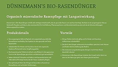 Dünnemann´s Biorasendünger - VORTEILSPACK (4 x 5 kg) - mit Langzeitwirkung - Frühjahrsdünger - natürliche Humusbildung - 4Pack, für 200 m²- Bio Rasendünger - Öko - Biodünger - Rasendünger - Dünger - Duenger - Rasenpflege - gesunder Rasen - Ra
