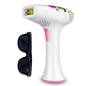 DEESS Permanent Hair Removal Beauty Device Series 2(GP585),ipl Hair Remover System for Men and Women Home Use,Speed-up Version, Pink.No Downtime.Cooling Gel is not Required, Gift: Goggles.