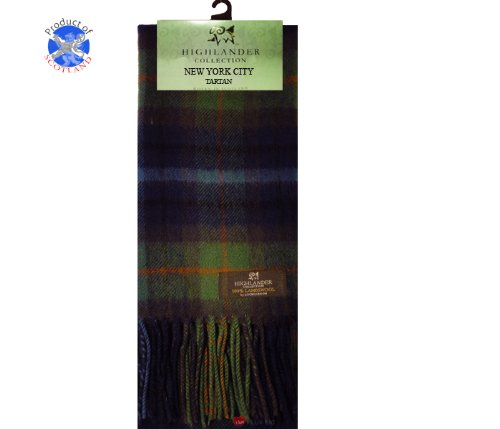 New York City Tartan Scarf LambswoolWidth 25cm, Length 180cm (ABSCL) * 100% Scottish made * 100% Brushed lambswool for extra comfort * Lightweight, fashionable and soft to the touch * An Ideal gift or a treat for one selfEach Tartan Scarf has a histo...