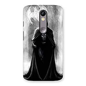 White Moon Knight Back Case Cover for Moto X Force
