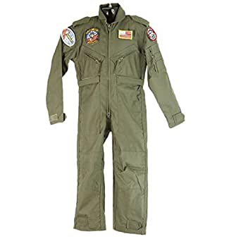 Kids Boys Flying Suit Camo/Green Military Army Soldier Fancy Dress Up Costume (X-Small, Green)