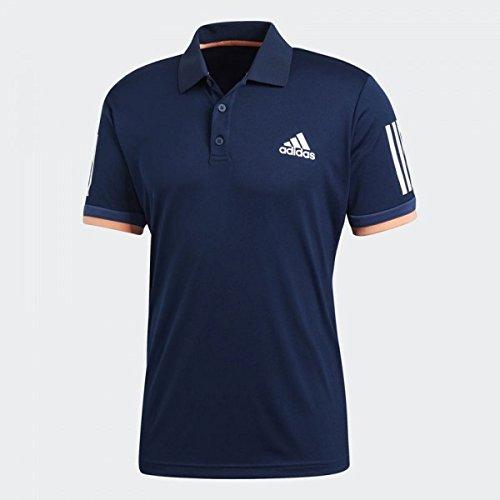 adidas Herren Club 3-Streifen Poloshirt, Collegiate Navy, L