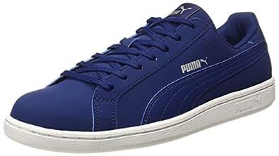 Puma Men's Smash Buck Blue Leather Sneakers - 11 UK/India (46 EU) (36614803)