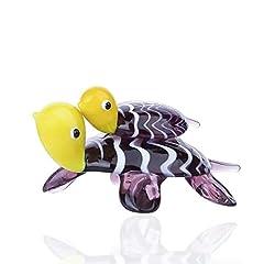 Idea Regalo - Crystalsuncatcher Tartaruga in Vetro soffiato a Bocca, Statuetta Dipinta a Mano Home Decor Marine ozean Sea Life Tartaruga in Vetro da Collezione