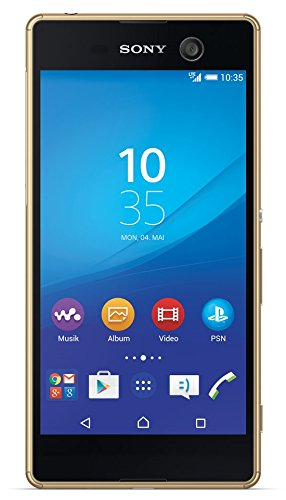 Image of Sony Xperia M5 Smartphone E5603 5 Zoll 12,7cm Touch-Display 16GB Speicher Handy ,Farbe: Gold (Gold)