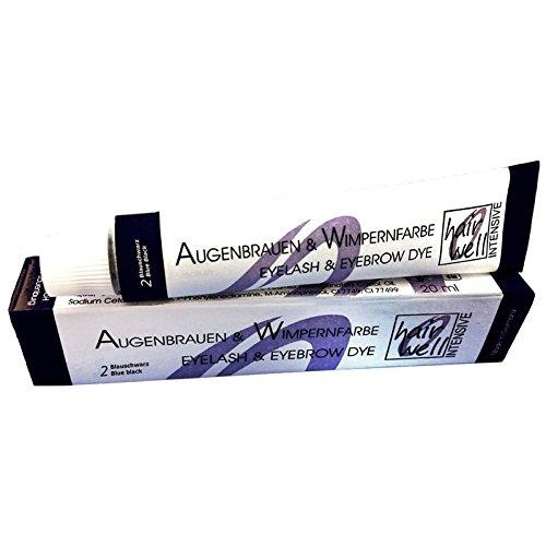 Hairwell Augenbrauen- und Wimpernfarbe Nr. 2 Blauschwarz 20 ml Augenbrauen- & Wimpernfarbe Nr. 2...